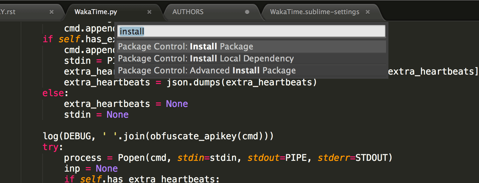 Sublime Text · WakaTime - Open source plugin for automatic time tracking