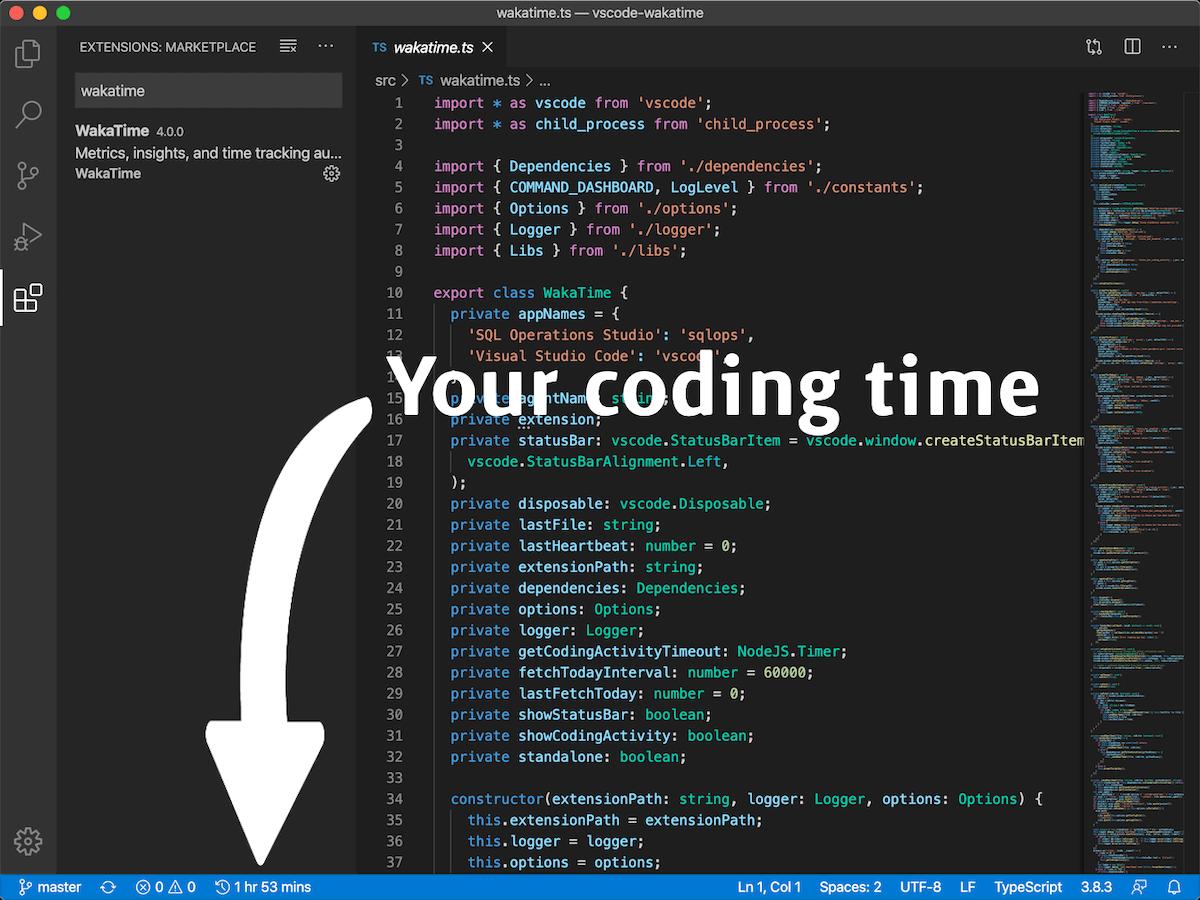 VS Code status bar